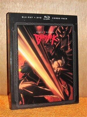 Berserk: Season Two (Blu-ray/DVD, 2018, 4-Disc Set) NEW anime Black Swordsman