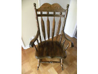 High Backed Rocking Chair