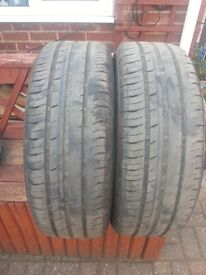2 continental used tyre 205/60/R16