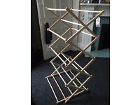 Wooden Folding Clothes Airer