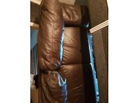 2 Seater Leather Italsofa dark brown