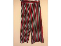 Striped Culottes from Boohoo (Size 8)