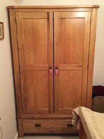Solid wood wardrobe £100
