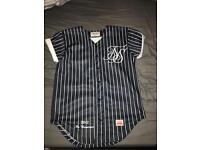 Men's Sik Silk baseball shirt navy