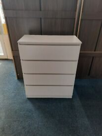 NEW 4 Drawer Chest Available in White, Black, Grey and Oak Effect