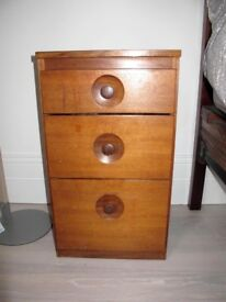 Mid-century teak Meredew chest of drawers in need of TLC Vintage, small