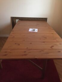 Large drop leaf Dining Table & 6 Chairs. Ideal for those extra visitors for Christmas Lunch...!!.