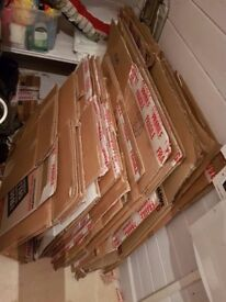 26 cardboard boxes for packing/moving-strong,sturdy,medium to large size,good condition
