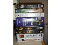 Free 6 x VHS Films, Madness and Aromatherapy tape, plus 4 x cases