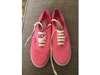 Two-tone Pink Vans, size 7.5 inc. postage