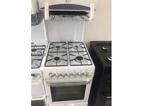 White flavel eye level gas cooker grill & oven good condition with guarantee