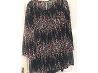 Red herring maternity dress