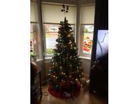Christmas Tree B&Q 6ft Green Pre Lit