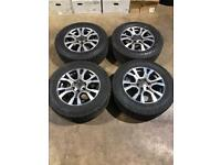 """Set of 18"""" genuine Ford alloy wheels and All terrain tyres Ford Ranger Mitsubishi L200 Shogun"""