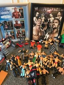 Wrestling figures plus other