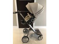 Stokke pushchair abs pram with summer kit and winter kit