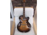 Hofner Guitar:Type 66:Senator cutaway:Vintage 1950s:Archtop:Electro-acoustic:Well looked after.