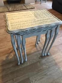"Shabby chic ""manuscript"" Nest of tables"