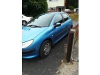 Peugeot 206 for sale spares or repair