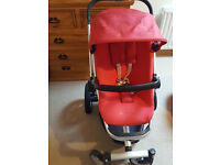 Quinny Buzz Travel System RED Excellent Condition / Pram, Stroller, Car Seat