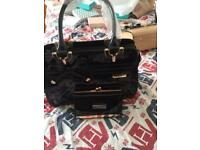 Black handbag & purse set