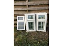windows white PVC double glazed. 7 in total 4 of 1090x555 and 2 of 1090x525 1 of bathroom 970x503