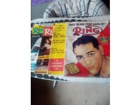Old boxing ring magazines