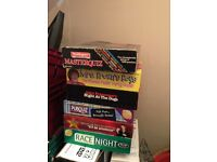 collection of family games, race nights and quizzes - lots of variety