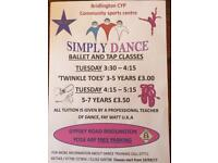 Simply Dance (Ballet & Tap Classes 3-7years)