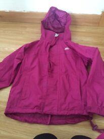 Girls trespass jacket age 5-6