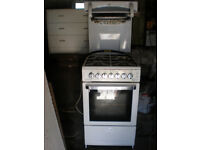 Gas cooker with eye level grill, 500mm wide, white, Flavel Aspen 50, connection hose included