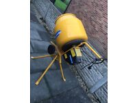 New Cement Mixer, Compact tip-up mixer with stand