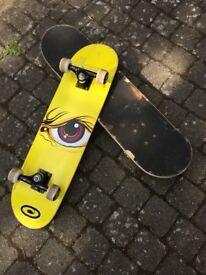 Osprey Complete Beginners Double Kick Trick Skateboard - 31in x 8in Maple Deck