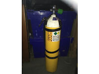 7 ltr Aluminium Stage Diving Cylinder, complete with stage kit and stainless steel clips