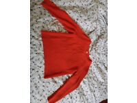 Bright tangerine/orange sweater, Women's S