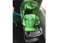 Sit and stand double pushchair by chipolino with cozytoes, buggy board, matching bag and raincover