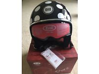 Black and White BHR Pure Motorcycle Helmet large - 58