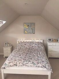 Double bed & mattress with extra furniture inc.