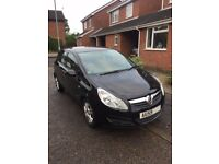 2009 Vauxhall Corsa 1.2 i 16v Active, Black, 5 Door, only 55,500 miles. FSH. 12 month MOT.