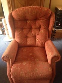 Motorised riser recliner armchair in very good condition