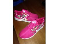 Brand new pink floral nikes for sale
