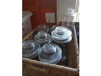 Attractive Glass Storage Jars ex Nescafe from 1970s