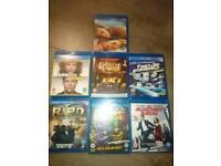 7 blue-ray dvd's