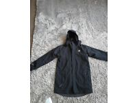Kids karimoor black winter jacket, two layered.removable inside fleece