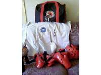 Size 1 uniform. All protective equipment and holdall. 6-10yrs