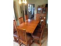 Stunning Solid Teak dining table - excellent & complete condition