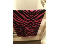 Animal print double duvet cover & curtains
