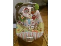 Baby owl bouncer chair