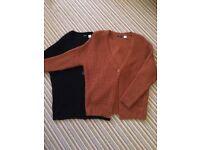 2x ladies chunky knit cardigans