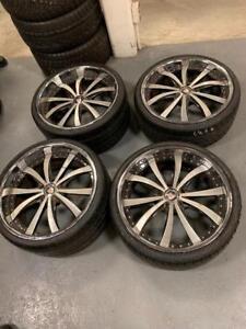 4 Mags MHT 20 Po de Maserati 5X108 avec Pneus ÉTÉ Pirelli 245/30/20. 285/25/20